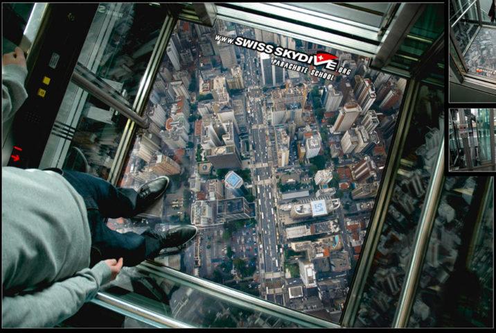 3D-эффект в лифте