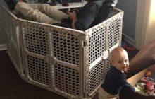 Папа закрылся от ребенка