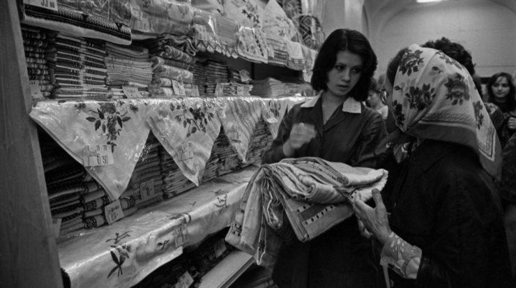 Магазин тканей в СССР