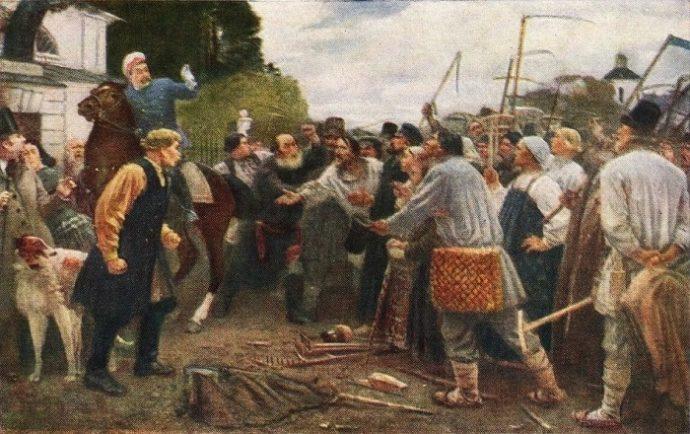 "Репродукция ""Бунт крестьян села Мурмина 1857 года"""