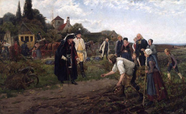 """Репродукция картины """"Король повсюду: Фридрих II проверяет урожай картофеля"""""""
