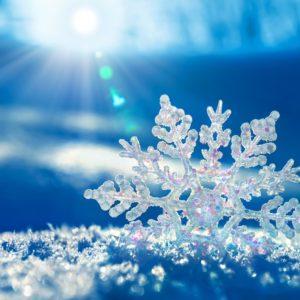 Снежинка на солнце