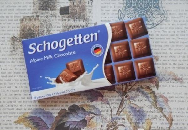 Шоколадная плитка в упаковке