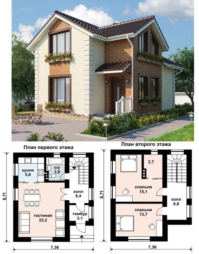 Проекты домов из разных материалов